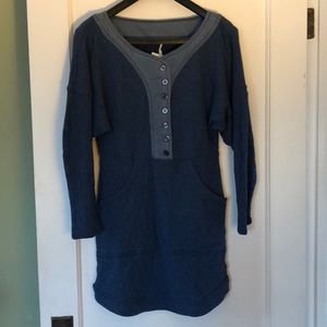 Free People cotton long sleeve dress XS